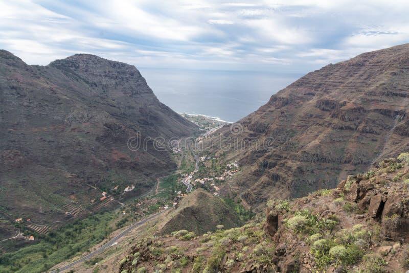Valle Gran Rey, Gormera royalty-vrije stock afbeeldingen