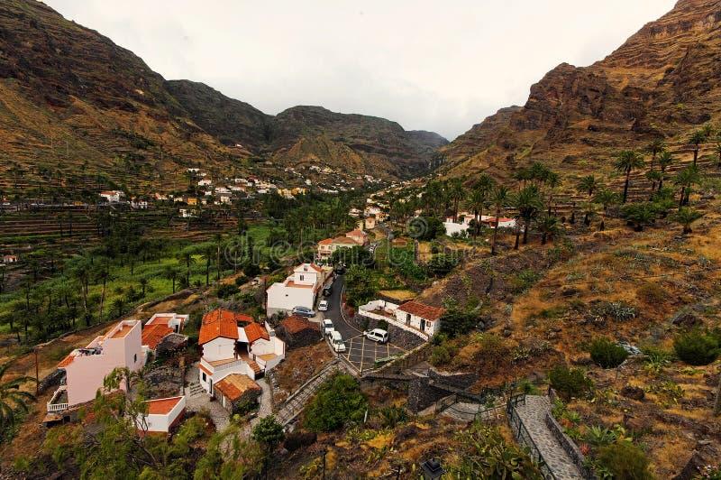 Valle Gran Rey, het eiland van La Gomera royalty-vrije stock afbeeldingen