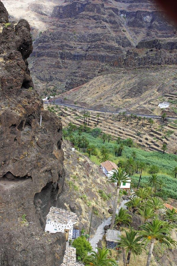 Valle Gran Rey, het eiland van La Gomera royalty-vrije stock foto