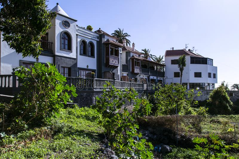 Valle Gran Rey, La Gomera, Canary Island of Spain. Barbolan, part of Valle Gran Rey at the southside of La Gomera. White and Colorful houses make it a cozy royalty free stock photography