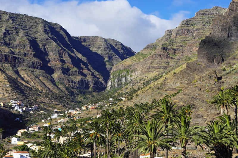 The Valle Gran Rey, La Gomera island. royalty free stock photo