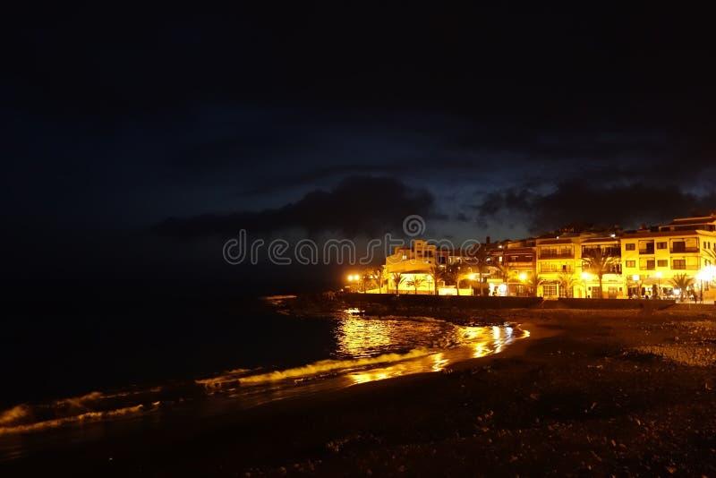 Valle Gran Rey by night. In La Gomera island royalty free stock photo