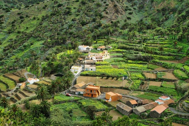 Valle Gran Rey op eilandla Gomera royalty-vrije stock foto's