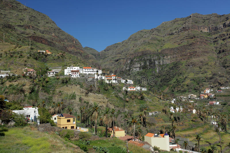 Valle Gran Rey. Stunning and beautiful Valle Gran Rey on the island of La Gomera, one of the archipelago of Canary Islands, Spain stock photo