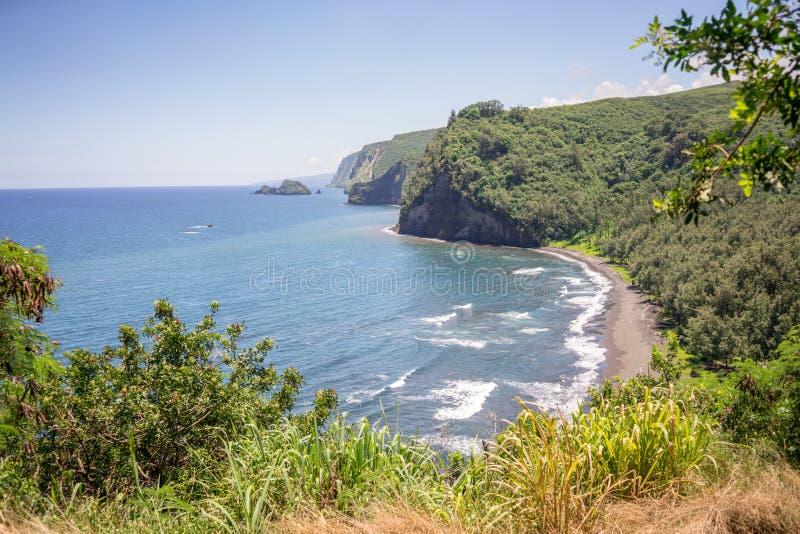Valle Hawaii de Pololu fotografía de archivo libre de regalías