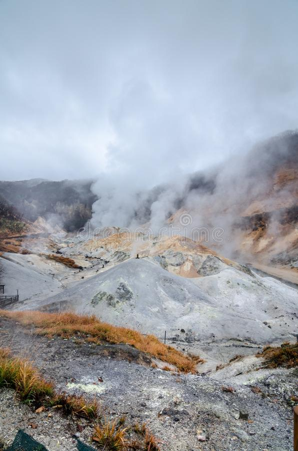 Valle hermoso de Jigokudani o del ` del valle del infierno del ` fotografía de archivo
