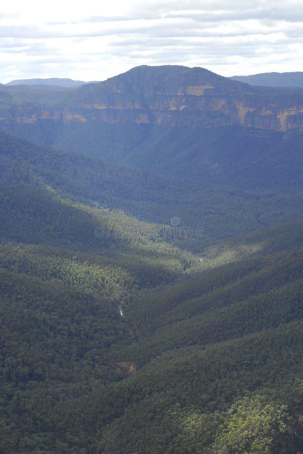 Valle in montagne blu NP immagine stock libera da diritti