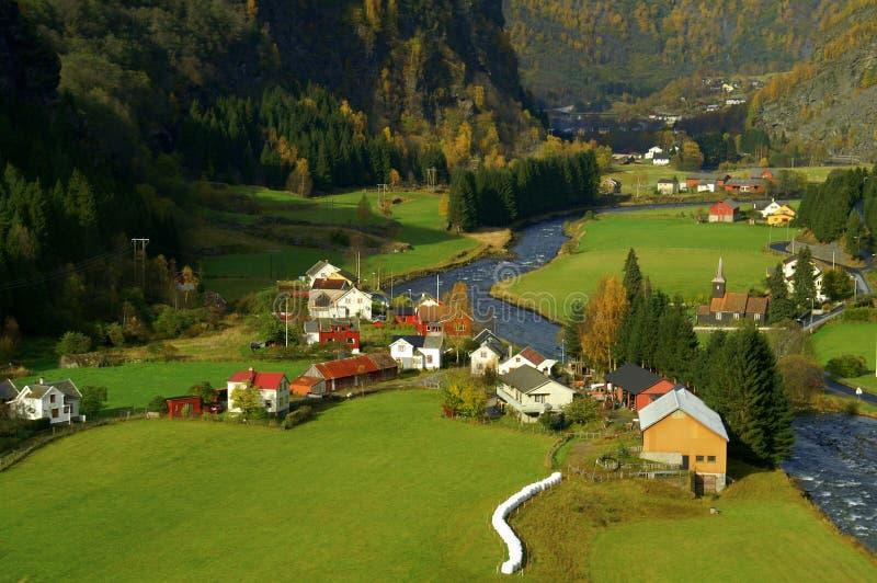 Valle Noruega de Flam imagen de archivo