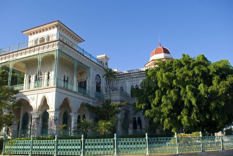 Valle pałac, Cienfuegos, Kuba zdjęcia royalty free