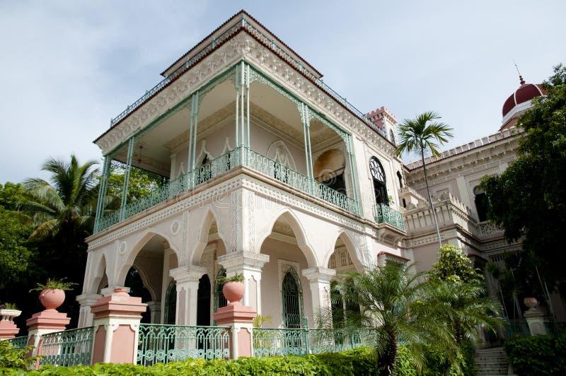 Valle-Palast - Cienfuegos - Kuba stockbilder