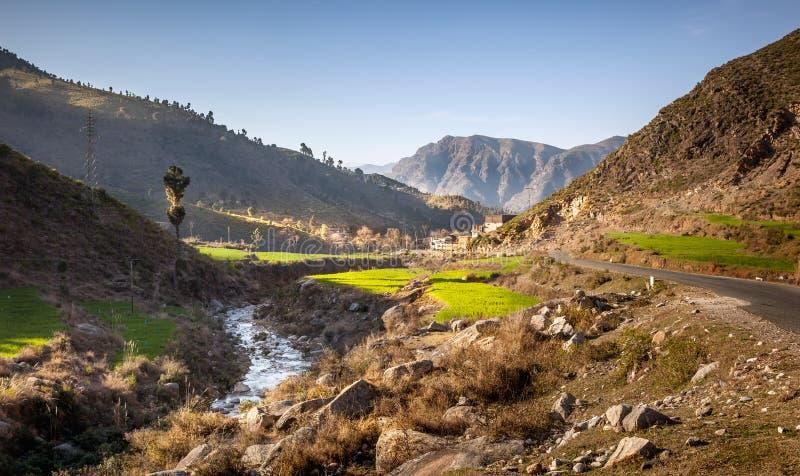 Valle Paquistán del golpe violento fotos de archivo