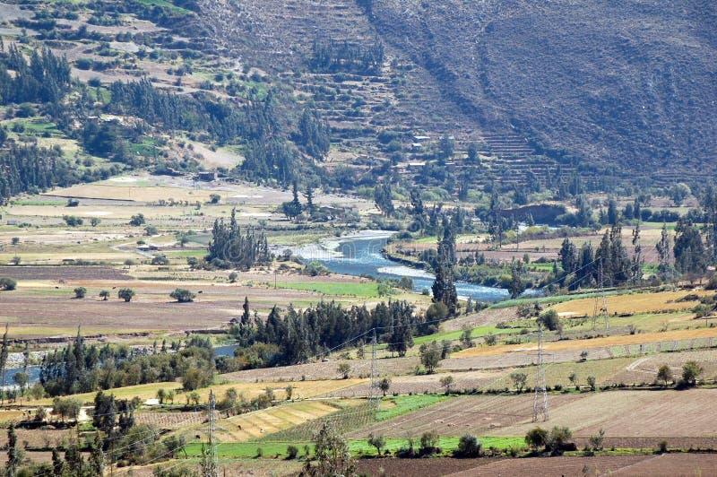 Valle Perú de Ollayantambo fotografía de archivo libre de regalías