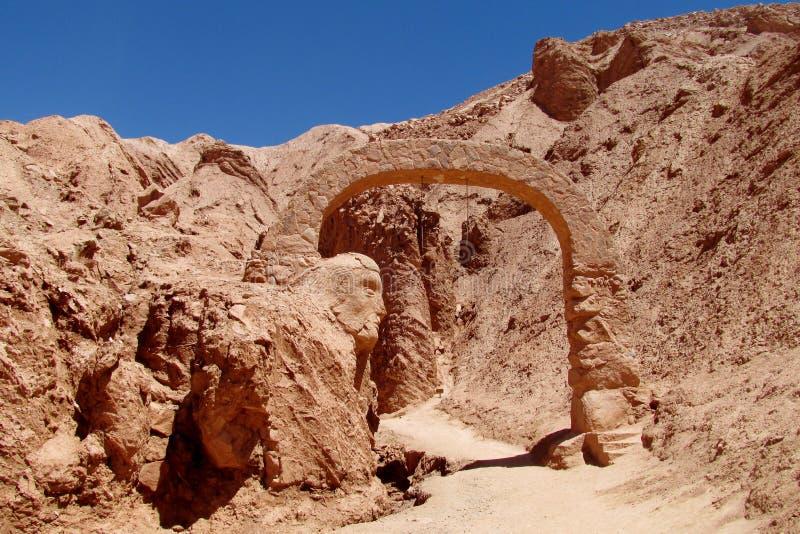 Valle Quitor beeldhouwwerk in San Pedro de Atacama royalty-vrije stock fotografie