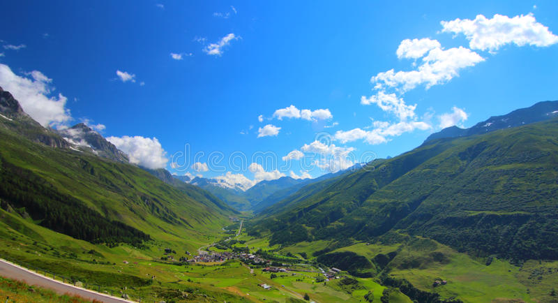 Valle - Realp, Hospental, Andermatt fotografie stock