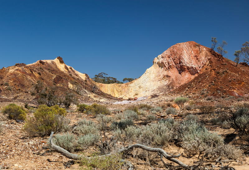 Valle sacra aborigena. Gamme del Flinders (vicino ad Iga Warta). Sout immagini stock