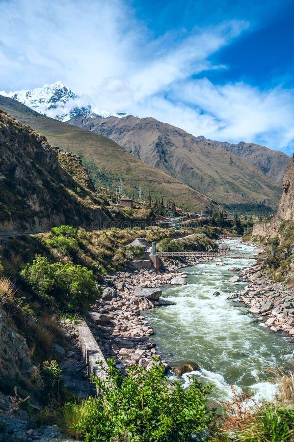 Valle sagrado de Urubamba en Perú foto de archivo