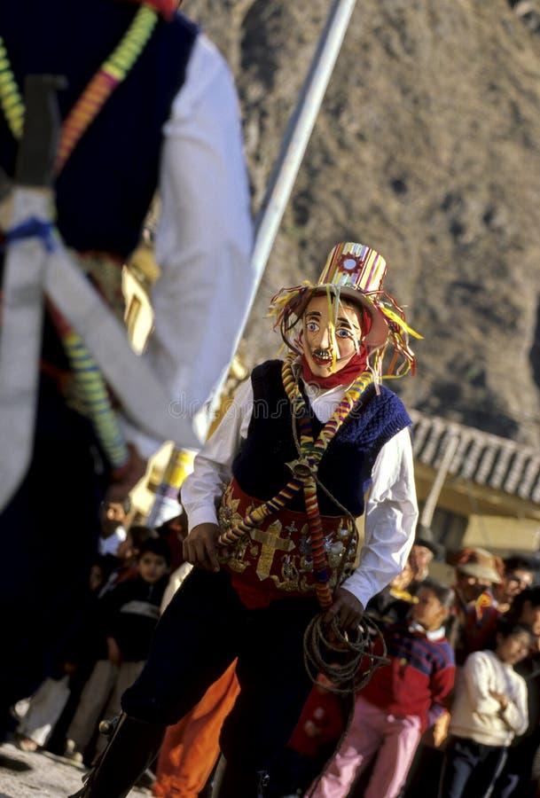Valle sagrado del festival peruano fotografía de archivo