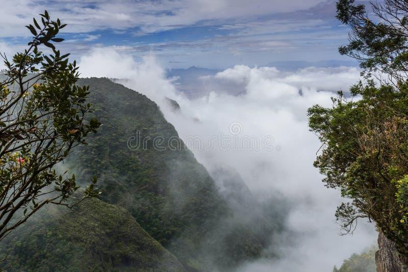 Valle silencioso en Kodaikanal fotografía de archivo