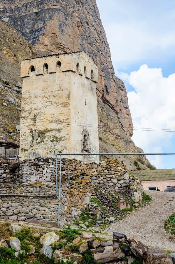 Valle tribal antiguo de Chegem de la torre imagen de archivo libre de regalías