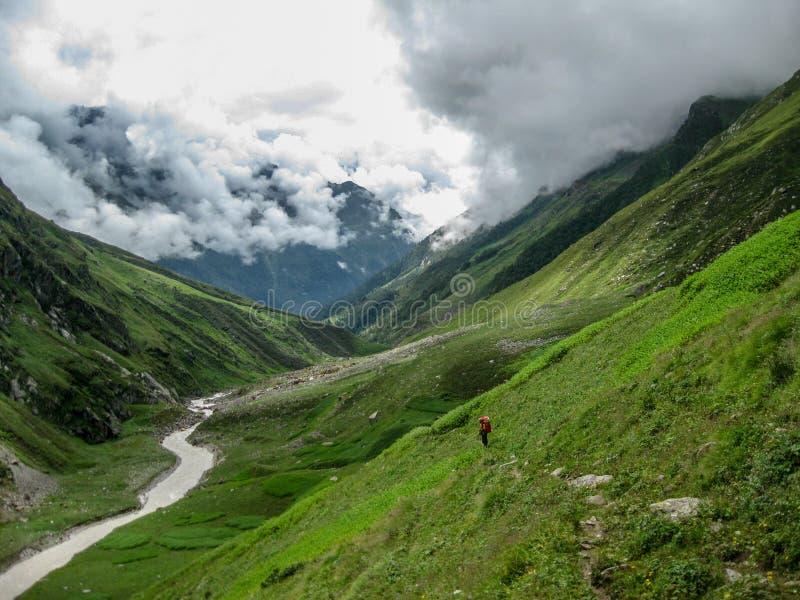Valle verde delle montagne, India fotografia stock libera da diritti
