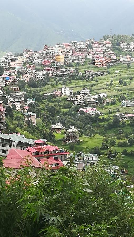 Valle verde nel mio villaggio immagine stock