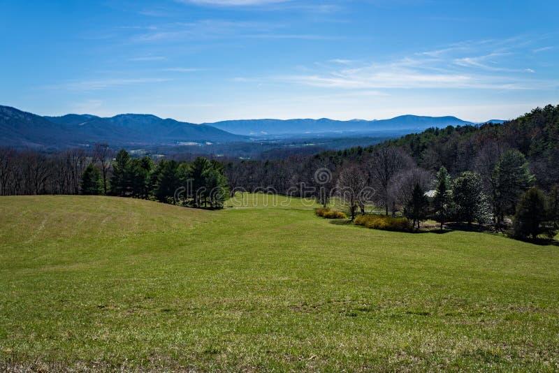 Valle y montañas de Montville imagen de archivo libre de regalías