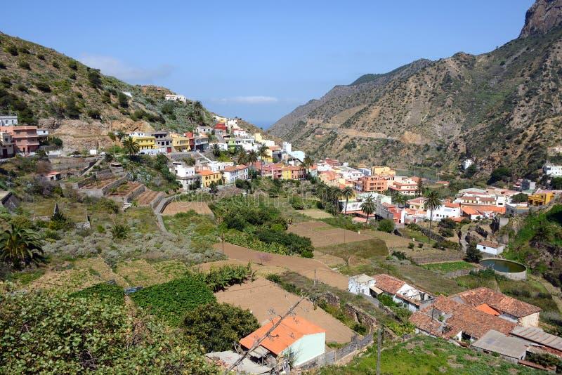 Vallehermoso in Gomera royalty-vrije stock fotografie