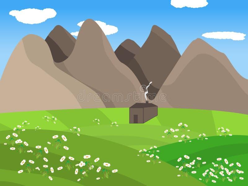 Vallei stock illustratie