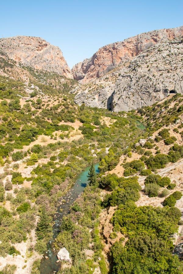 Vallei in Caminito del Rey stock foto's