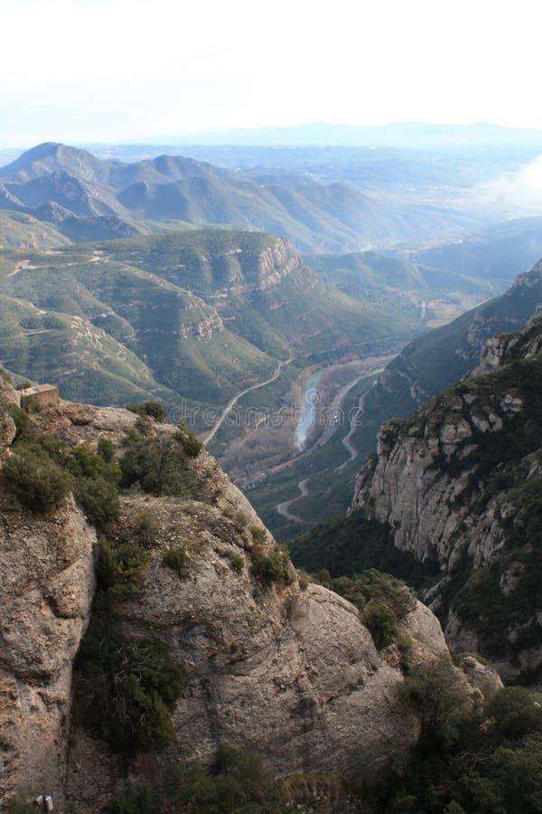 Vallei van Bergen Montserrat royalty-vrije stock fotografie