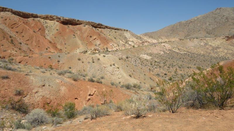 Vallei van brand oranje landschap royalty-vrije stock foto's