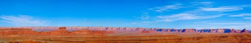 Vallei van de Goden en Cedar Mesa stock afbeeldingen
