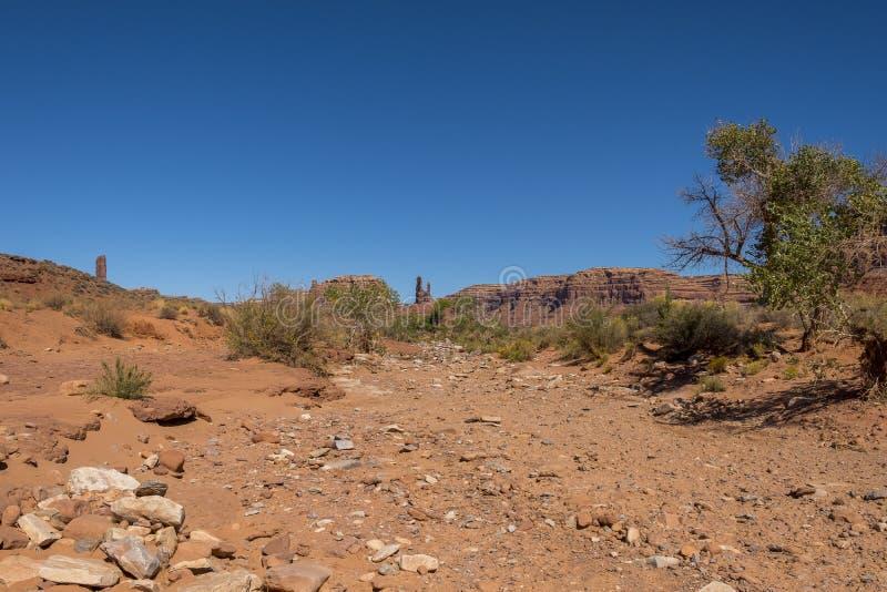 Vallei van de Goden, Utah stock fotografie