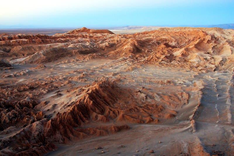 Vallei van de maan in Chili stock foto