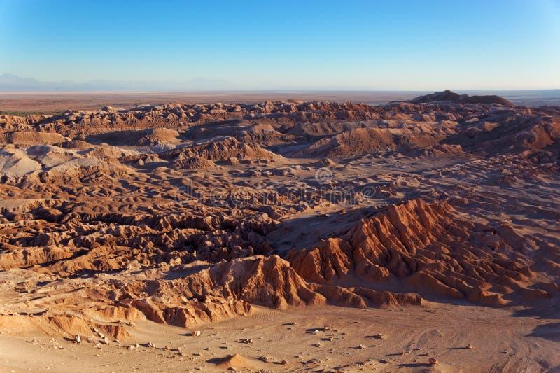 Vallei van de Maan, San Pedro de Atacama, Chili royalty-vrije stock fotografie