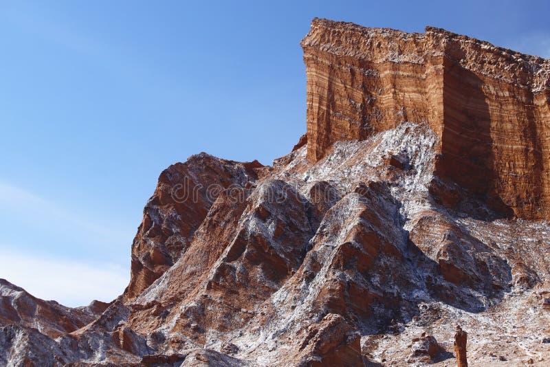 Vallei van de Maan - Valle DE La Luna, Atacama-Woestijn, Chili stock foto's