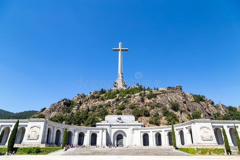 Vallei van Gevallen Valle DE Los Caidos, de begraafplaats van de Dictator Franco, Madrid, Spanje royalty-vrije stock foto