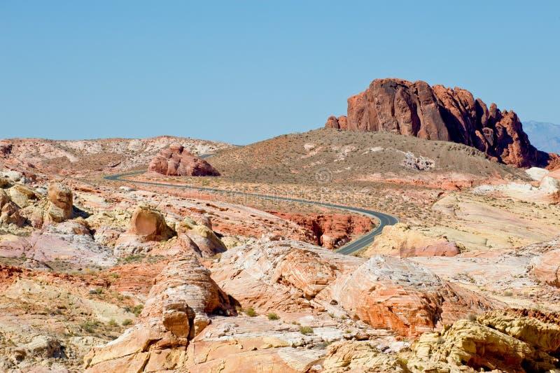 Vallei van het landschap van de Brand royalty-vrije stock afbeeldingen