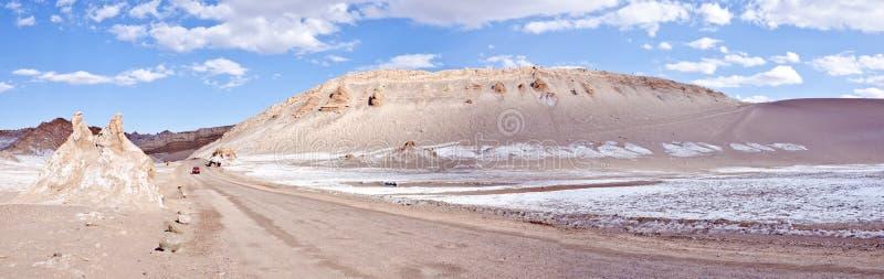 Vallei van het Panorama van de Woestijn van Atacama van de Maan #2 stock afbeelding