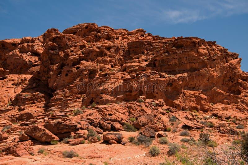 Vallei van het Park van de Brandstaat Nevada royalty-vrije stock foto's