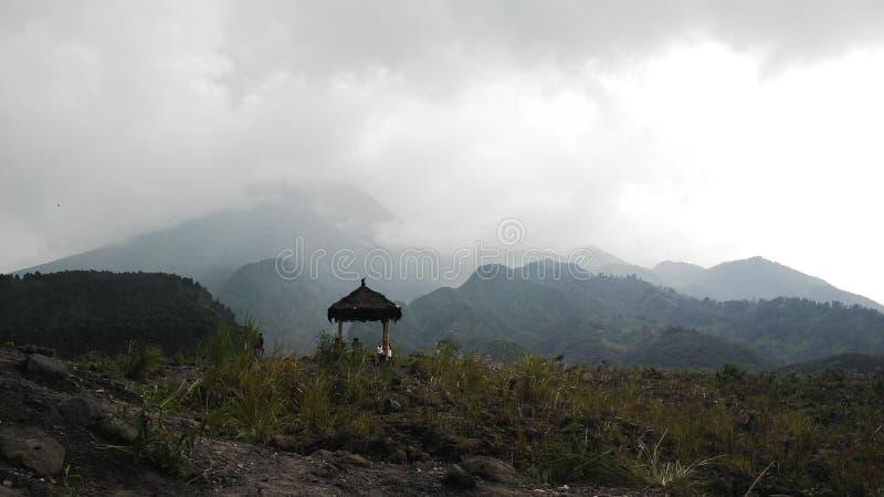 vallei van merapiberg royalty-vrije stock foto's