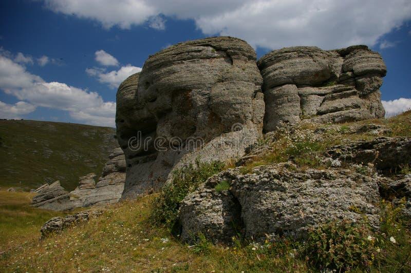 Vallei van Spoken in de Krim, stock afbeelding