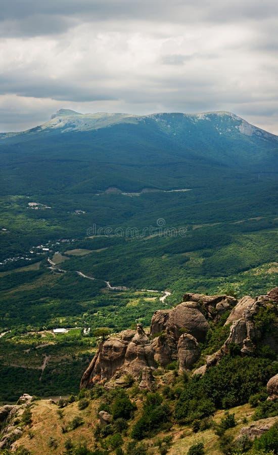 Vallei van Spoken op de Demerdji-berg royalty-vrije stock fotografie