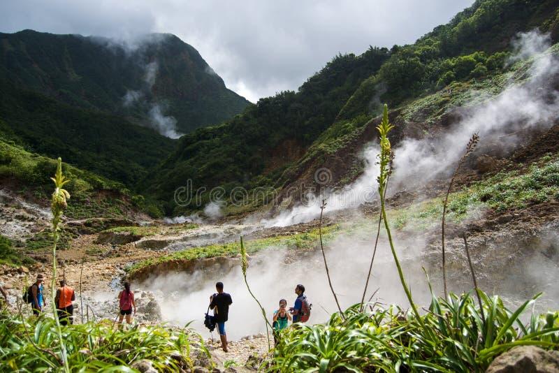 Vallei van Verlatenheid in Dominica stock foto