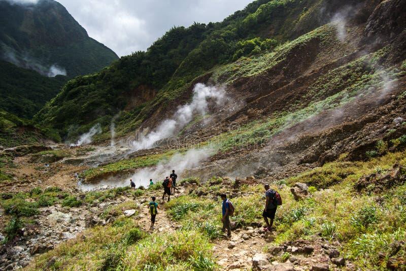 Vallei van Verlatenheid in Dominica royalty-vrije stock afbeeldingen