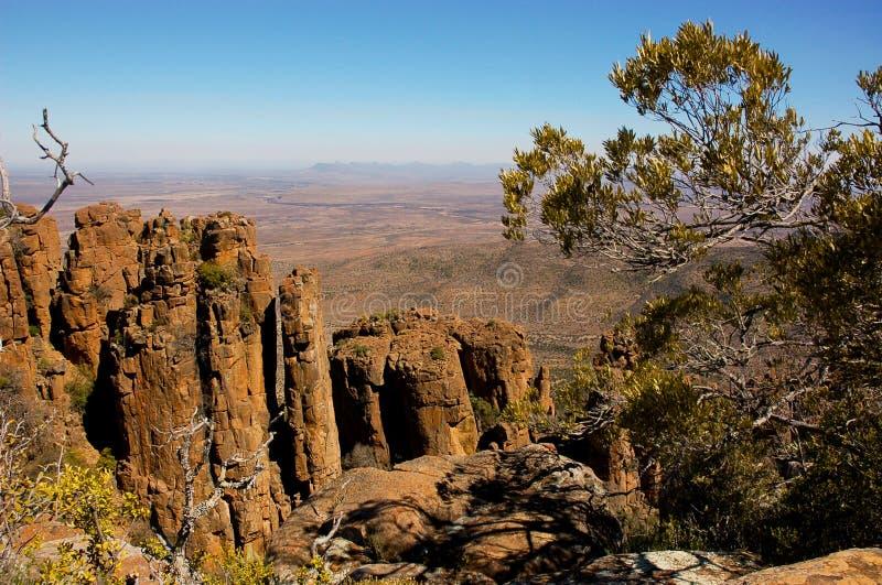 Vallei van Verlatenheid in het Nationale Park van Camdeboo royalty-vrije stock afbeelding
