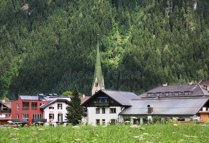 Vallei Zillertal Mayrhofen tirol oostenrijk stock fotografie