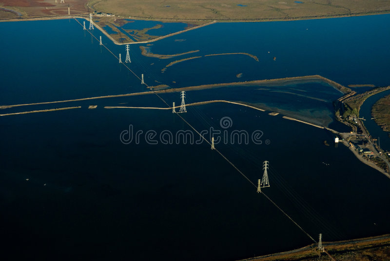 Vallejo bay from the air stock image