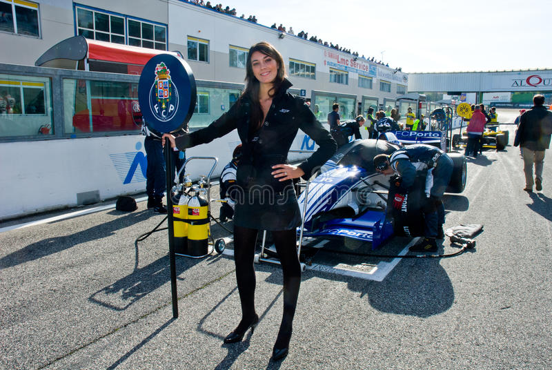 vallelunga circuit rome italy november 2 2008 grid girl editorial photography image of. Black Bedroom Furniture Sets. Home Design Ideas