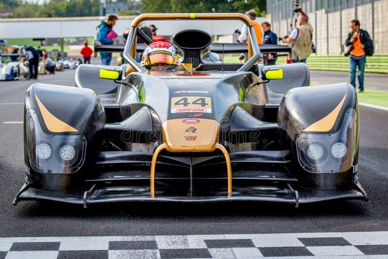 Vallelunga Italien september 24 2017 Tävlings- bil för prototyp på cir royaltyfri fotografi